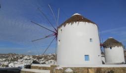 Les célèbres moulins de Mykonos