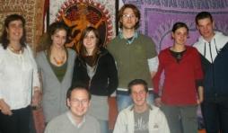"""le """"noyau"""" du groupe solidaire de l'Inde: Régine Xhauflaire, Anny Dislaire, Carole Brouwers, Etienne Marechal, Sophie Otte, Benjamin."""