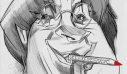 caricature de Jean Cabu de Charlie Hebdo par notre caricaturiste Christian Jacot