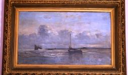 Tableau original signé Artan et exposé à l'Hôtel de Ville (photo Monique Noé)