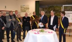 Le Ministre Furlan pose une premiere pierre a Jemelle