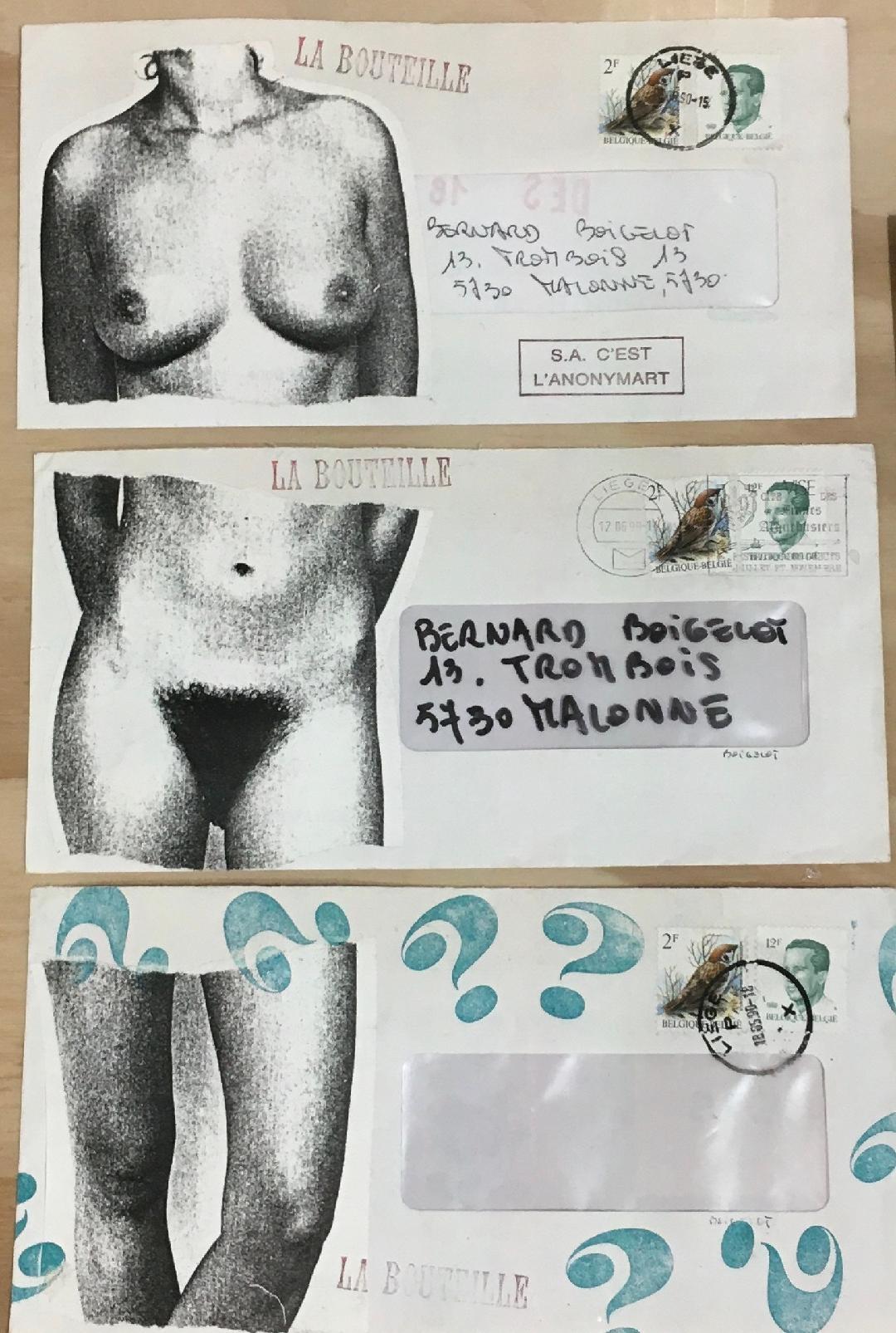 Une illustration en 3 enveloppes © Bernard Boigelot © Ph. : Murielle Lecocq