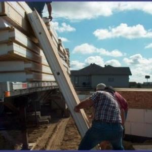 Manutention des panneaux prefores pour electricite