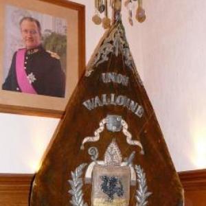 La banniere originale de la Royale Union Wallonne