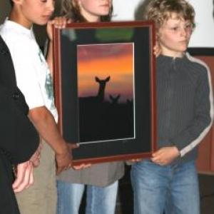 Les Juniors de Patrimoine Nature tres fiers du Prix recu