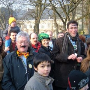 Le Bourgmestre et le Directeur de la Maison du Tourisme en spectateurs participants