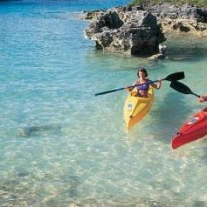 Couple en canoe