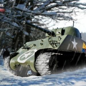 Tank Sherman Bastogne 8