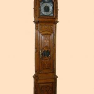 horloge de parquet avec marqueterie (Normandie, debut 19eme siecle)