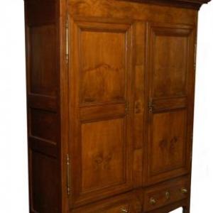 armoirette en chene avec marquetrie 2 portes et 2 tiroirs bas ( Grand-Duche de Luxembourg, milieu 19 eme siecle)