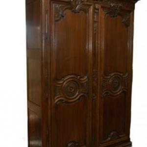 armoire de mariage en chene ( Normandie, debut 19 eme siecle)