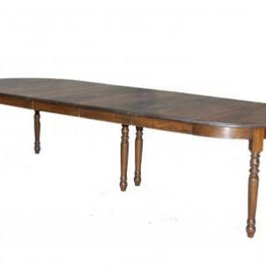 table ronde en chene massif avec 4 allonges