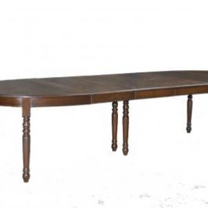 table ovale en chene avec 3 allonges