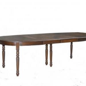 table ovale en chene avec 2 allonges
