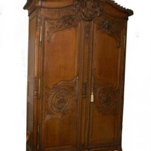 armoire de compagnonnage en chene (Normandie, fin 19eme siecle)