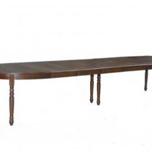 table ovale en chene avec 5 allonges