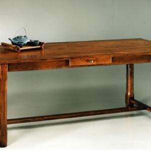 Table fermette - 2m/85cm - Possibilite de dimensions differentes - 1 ou 2 allonges