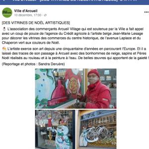 Article publié sur le site de la ville d'Arcueil par Sandra Deruère