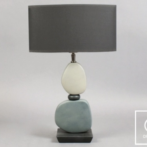 C1475 GIENA Lampe taupe 45 x 30 x 73 cm