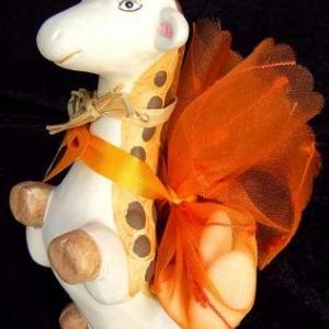 Cadeau baptême theme girafe