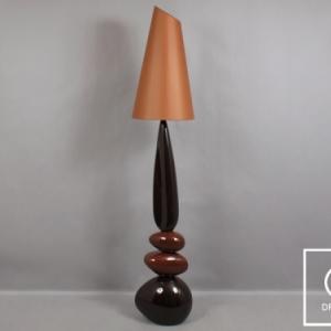 B6735 ORTIZ lampadaire galets marron mat 36 x 36 x 180 cm