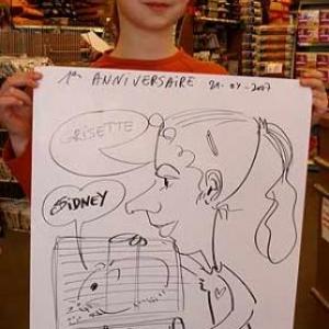 caricature au tom&co, auderghem