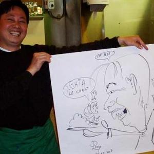 Caricature du patron par Jean-Marie Lesage