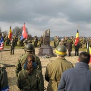 La ceremonie a Thier-du-Mont.