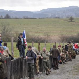 """La marche """"In the footsteps of the 82nd Airborne Division"""" à Goronne"""