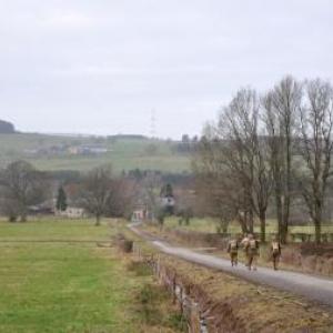 Bihain: 4ème marche en souvenir de la 83ème division d'infanterie.
