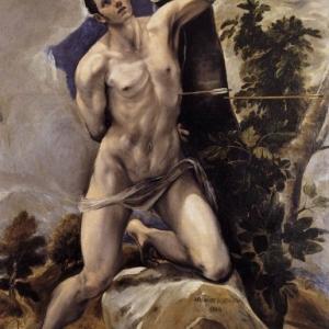 Saint Sebastien avec traits gay, par El Greco, 1610.