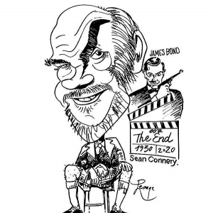 caricature_Sean Connery. James Bond.007