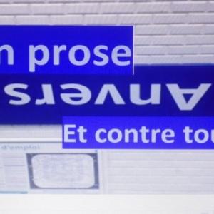 """metro de paris (En France, Anvers se prononce """"en vers"""", ou """"en verre"""", c'est comme on veut)"""