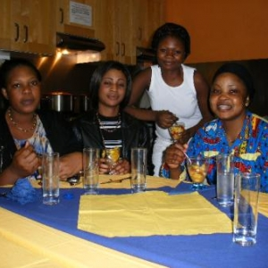 les pensionnaires congolaises qui nous ont accueilli pour le repas du soir