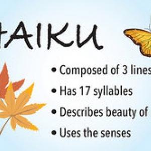 Hors du japonais, la plupart des Haikus sont en anglais. Ici, les principes de la compostion d'un haiku.