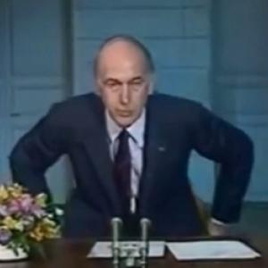 """Le """"au revoir"""" de Giscard."""