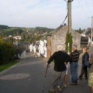 le plus dur: descendre St-Roch vers Houffalize