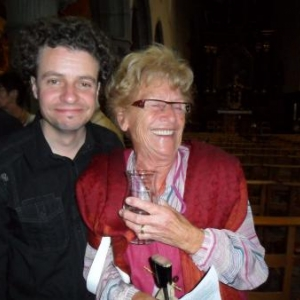 Jacqueline Lambin, artiste peintre, et Stephane Depree, animateur culturel de la commune de Houffalize