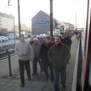 avant le depart, en gare de Libramont