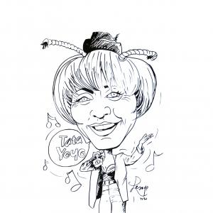 Annie Cordy caricature de Jean-Marie Lesage