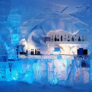 Ice bar . specimen.