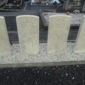 Cimetière de Houffalize. Tombes du Commonwealth.