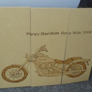Harley Davidson. Prototype de Léonard de Vinci.