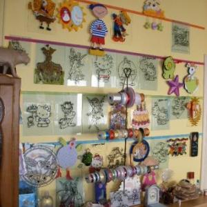 Quelques exemples de vitraux auxquels on apportera des couleurs
