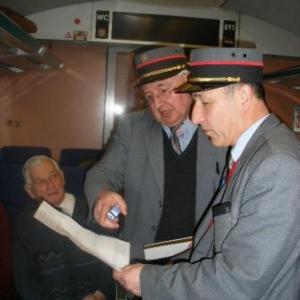 dans le train, le contôle...