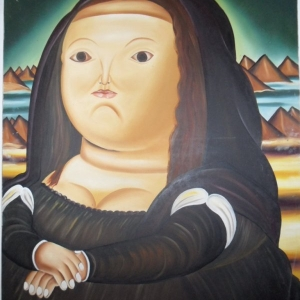 "Botero. Big is beautifull (on dit de cette peinture que c'est ""la Joconde"" de Botero"