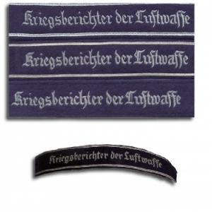 Bande de manche reporter de guerre officier (Luftwaffe) (photo du haut)