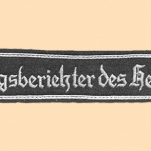 Bande de manche reporter de guerre officier (Wehrmacht)
