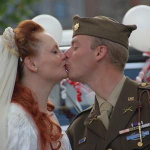 """Un mariage au """"703ème Tank Destroyer"""" à Gerpinnes"""