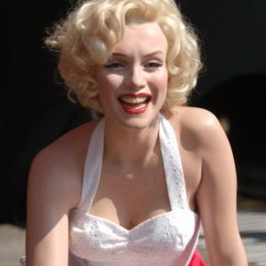 Marylin en rue sur Hollywood Boulevard
